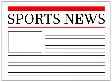 newspaper headline: Sports News Headline In Newspaper Vector Illustration