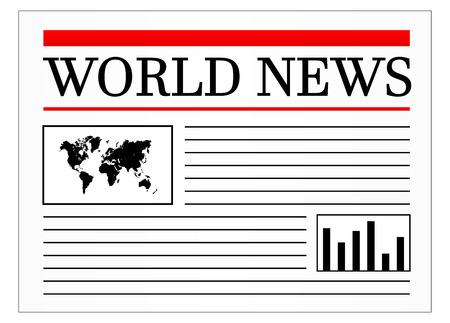 World News Headline In Newspaper Stock Vector - 23885922