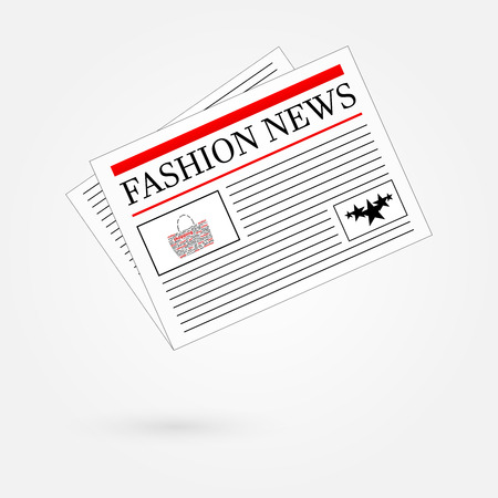 Fashion News Newspaper Headline Front Page Vector