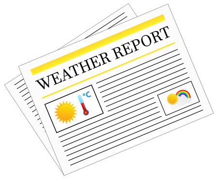newspaper headline: Weather Report Newspaper Headline Front Page