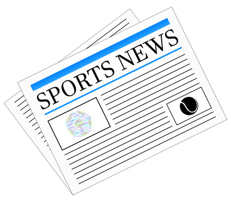 Sports News Newspaper Headline Front Page Vector