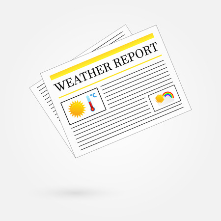 Weather Report Newspaper Headline Front Page Stock Vector - 23907962