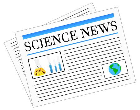 Science News Newspaper Stock Vector - 23908828