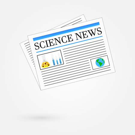 Science News Newspaper Stock Vector - 23908839