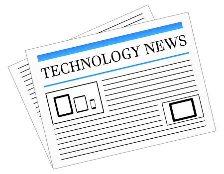 Technology News Newspaper Stock Vector - 23908827