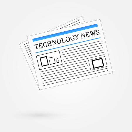 Technology News Newspaper Stock Vector - 23908829