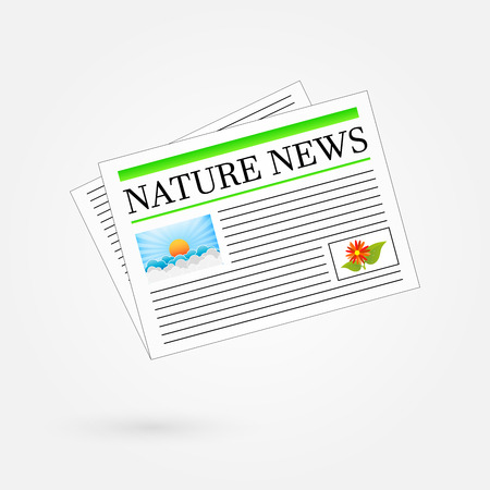 Nature News Newspaper Headline Stock Vector - 23909360
