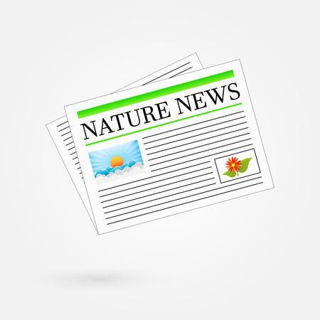Nature News Newspaper Headline Stock Vector - 23909360