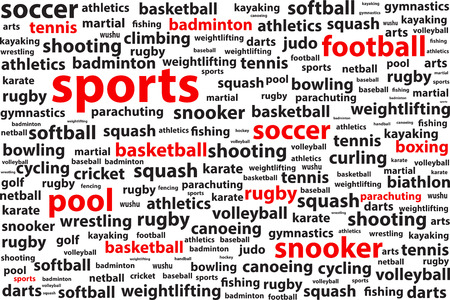 categories: Sports Categories Word Cloud
