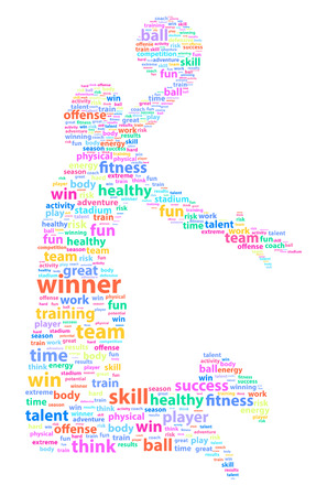 Basketball Player Sports Word Cloud Vector