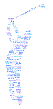 Golf Player Sports Word Cloud Vector