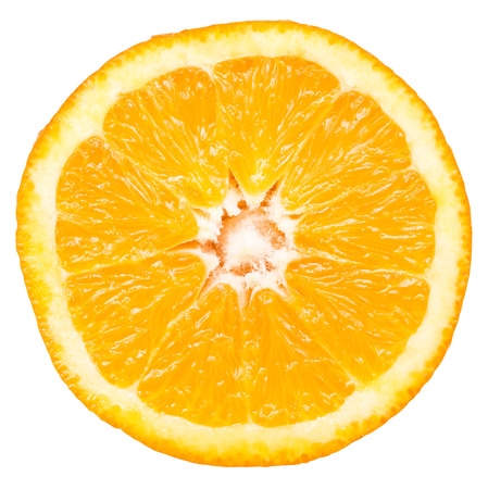 orange slice: Orange Slice Geïsoleerd
