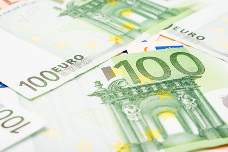 Euro Banknotes The Official Currency Of The European Union photo