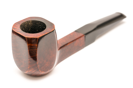 Tobacco Wooden Pipe On White