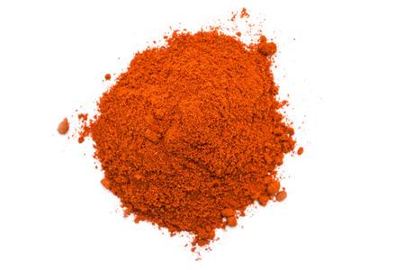 Kashmiri Chili Powder Pile On White Background photo