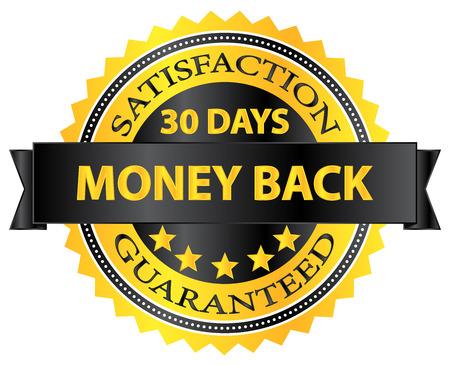 zufriedenheitsgarantie: 30 Tage Geld-Zur�ck-Garantie Abzeichen Illustration