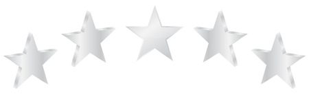 five stars: Five Silver Stars Product Quality Illustration