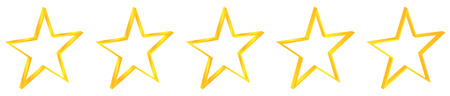 Five Gold Stars Rating Vector