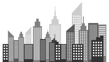 Moderne Metropool Stad wolkenkrabbers Skyline Vector Illustratie Stock Illustratie