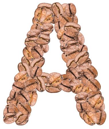 alphabet lettre: Caf� Alphabet Lettre A