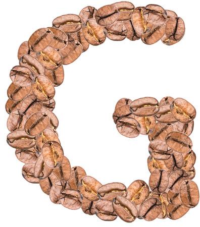 alphabet lettre: Caf� Alphabet Lettre G Banque d'images