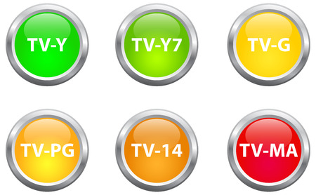 Television Parental Guidelines Buttons Vector