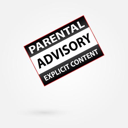 Parental Advisory Explicit Content Warning Vector