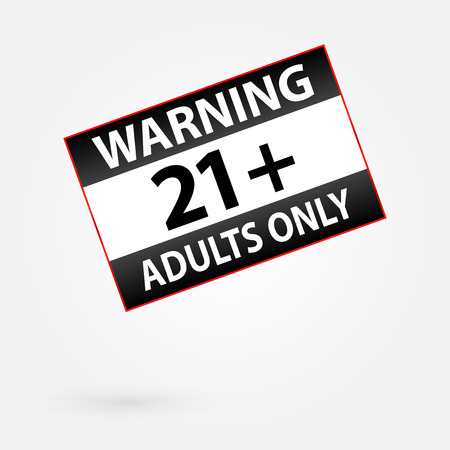 Warning Only Adults Parental Control Sticker Vector