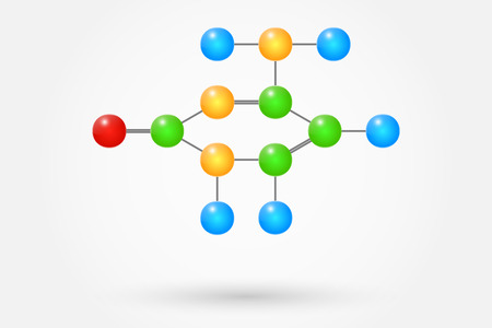 Cytosine Molecule Chemical Formula Vector