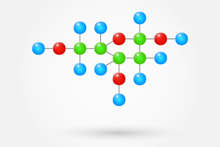 deoxyribose: Deoxyribose Chemical Formula Illustration