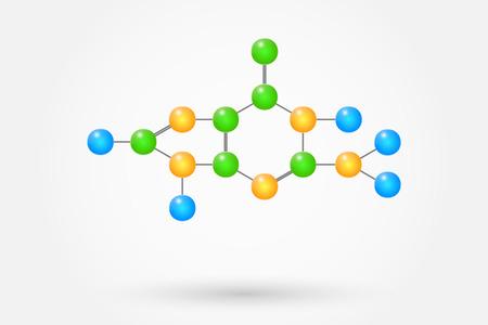 guanine: Guanine Molecule Chemical Formula