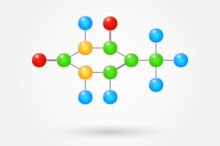 thymine: Thymine Molecule Chemical Formula