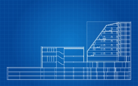 Modern hotel building architectural blueprint royalty free modern hotel building architectural blueprint royalty free cliparts vectors and stock illustration image 25308139 malvernweather Image collections