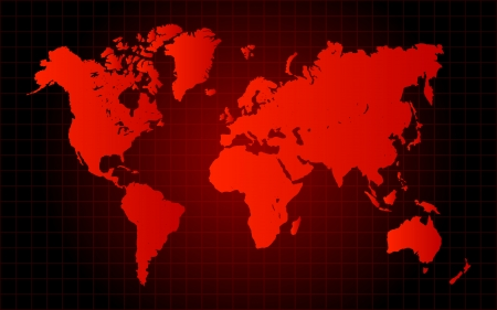 Red World Map Danger Concept Vector
