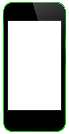 Green Business Mobile Phone Vector