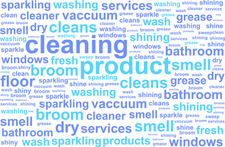 cleaning equipment: Cleaning Services Word Cloud Concept Illustration