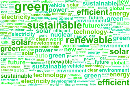clean energy: Clean Sustainable Renewable Energy Word Cloud Concept