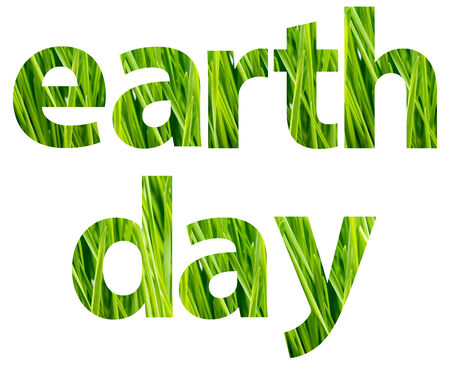 earth color: Green Earth Day Words Concept Stock Photo