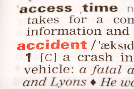 Accident Word Definition In Dictionary Close Up photo