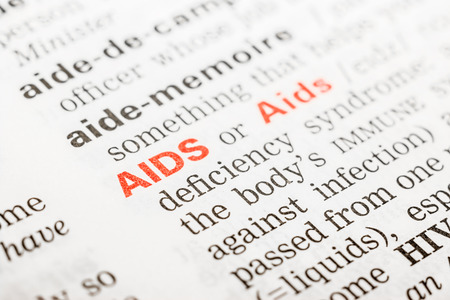 Aids Word Definition In Dictionary Close Up photo