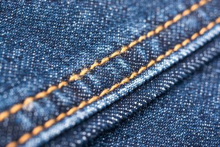 denim jeans: Blue Denim Jeans Texture With Seams Close Up Details