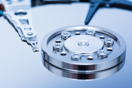 Computer Hard Disk Drive Close Up photo