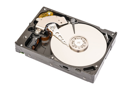 Computer Hard Disk Drive Isolated On White  photo