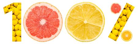 감귤류의 과일: One Hundred Percent Citrus Fruits