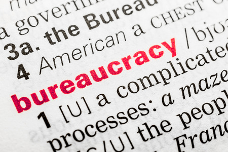 bureaucracy: Bureaucracy Word Definition In Dictionary Close Up Stock Photo