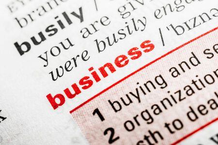 Business Word Definition In Dictionary Close Up photo