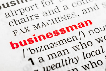 Businessman Word Definition In Dictionary Close Up photo