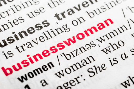 Businesswoman Word Definition In Dictionary Close Up photo