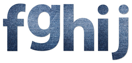 denim jeans: Denim Jeans Texture Alphabet Letters F-J
