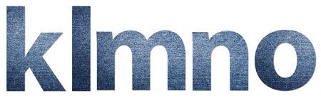 denim jeans: Denim Jeans Texture Alphabet Letters K-O